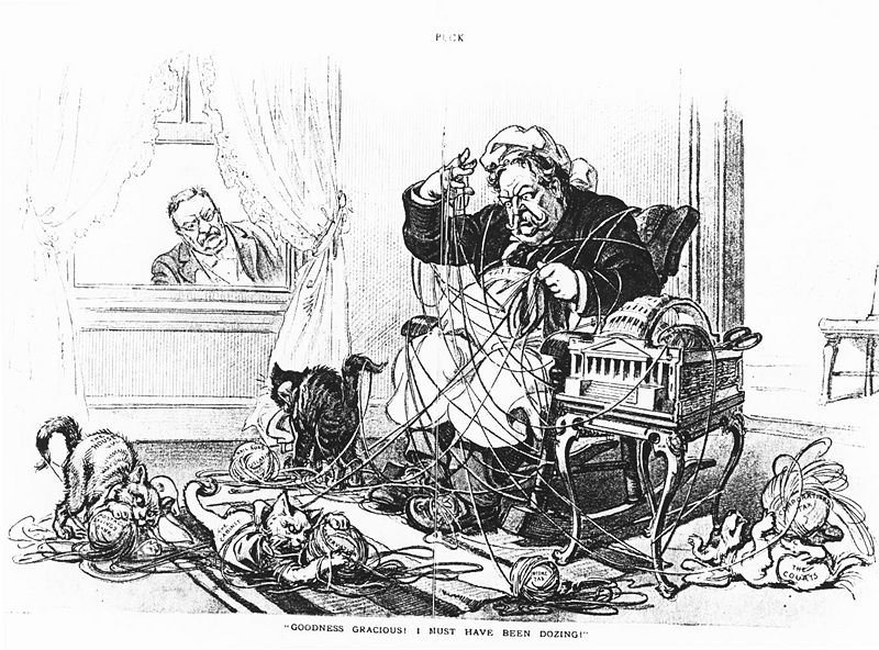 Taft Dollar Diplomacy Political Cartoon