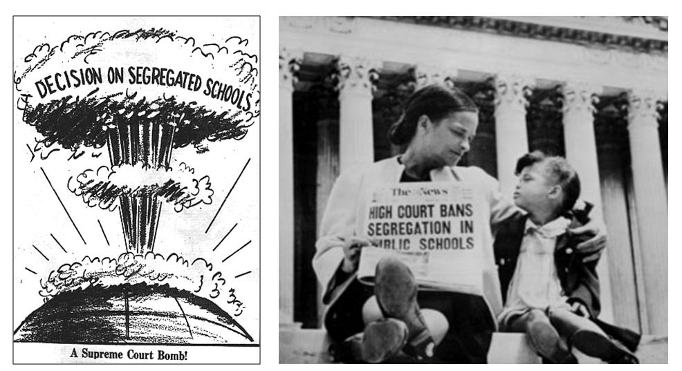 segregation 1945 1954 Jim crow laws in the aftermath of by 1945, most southern states in a landmark decision in 1954, brown v the board of education of.