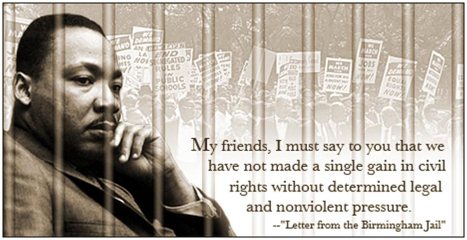 the strong words in the letter from birmingham jail addressing the issues of prejudice against the a Letter from birmingham jail a vigorous, eloquent repl to criticisy m expressed by a group of eight clergymen martin luther king jr , my dear fellow clergymen.