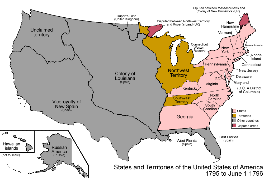 Apushcanvas Licensed For Noncommercial Use Only George - Us map during washington precedency