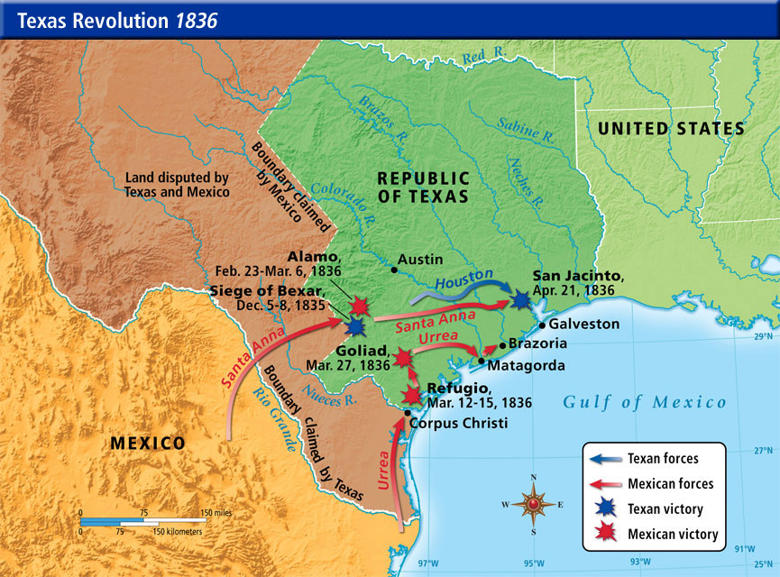 The Mexican American War 18461848 From W3 Triton World: Texas And Mexico War Map At Usa Maps
