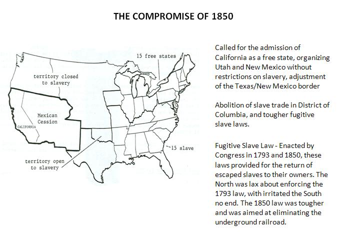 a study on the compromise of 1850 Study flashcards on compromise of 1850 flashcards at cramcom quickly memorize the terms, phrases and much more cramcom makes it easy to get the grade you want.