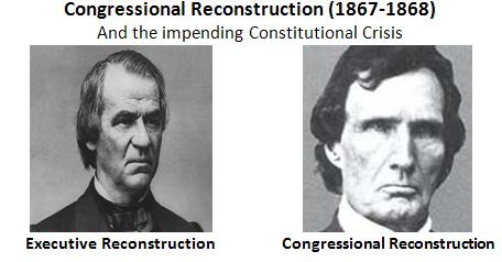 radical reconstruction of 1867 1877 significant changes Why reconstruction matters  it also marked a significant change in the federal balance of power,  in 1867 congress passed the reconstruction acts, .