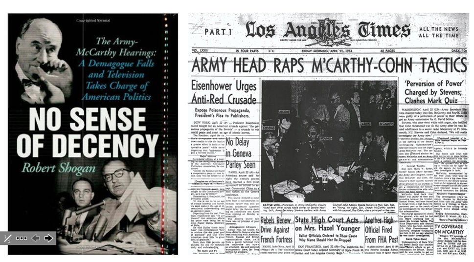 the crucible vs army mccarthy hearings The army's response army-mccarthy hearings: televised for the first time- massive media event •army officers denied charges calmly and rationally while mccarthy shouted, waved and pounded his fists while trying to intimidate witnesses.