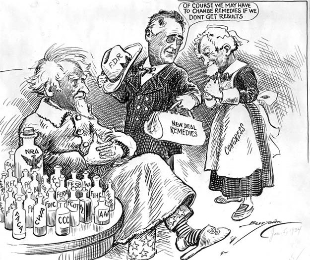 Image result for new deal cartoons