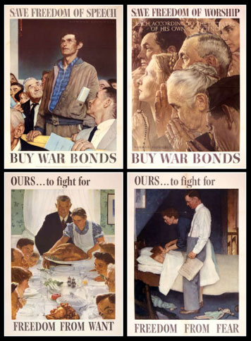 the four freedoms The latest tweets from roosevelt foundation (@four_freedoms) keeping franklin d roosevelt's legacy alive by honoring citizens and organizations who demonstrate a lifelong commitment to the four freedoms ideals.
