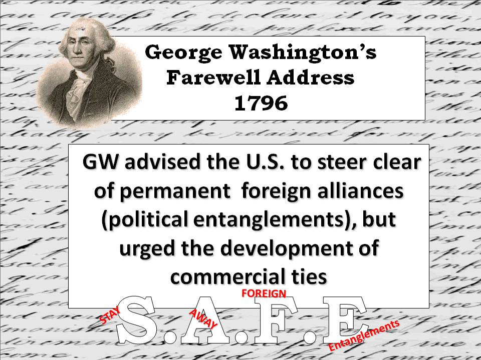 washington farewell essay